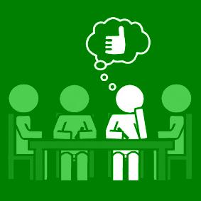 groepswerk goed meewerken groen